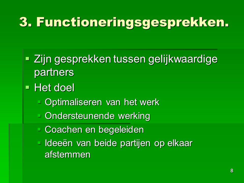 3. Functioneringsgesprekken.