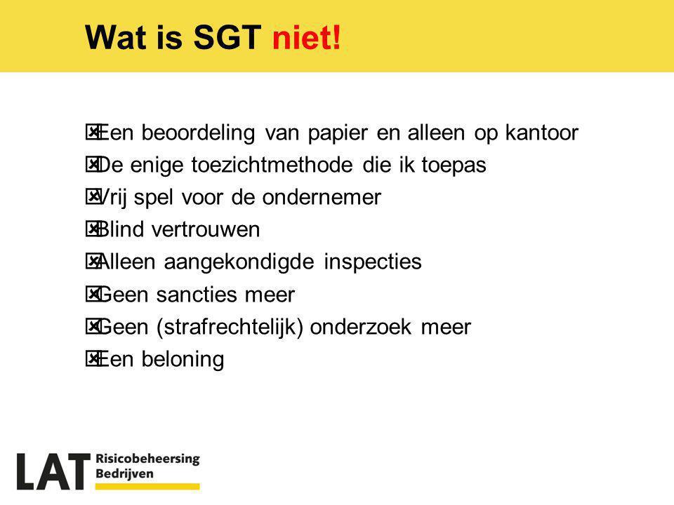 Wat is SGT niet! Een beoordeling van papier en alleen op kantoor