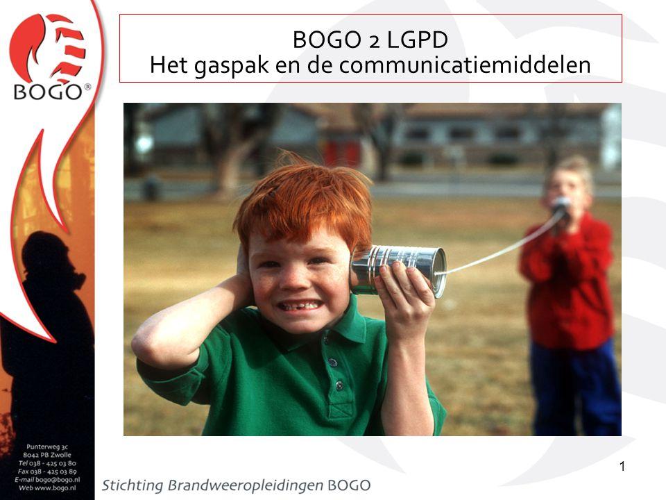 Het gaspak en de communicatiemiddelen