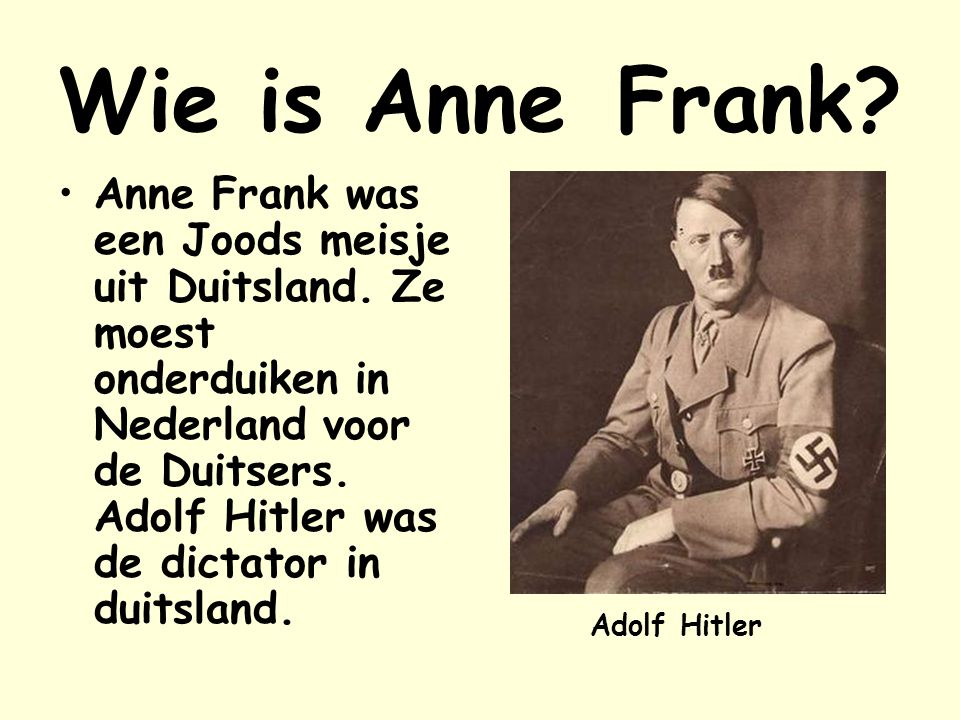 Wie is Anne Frank