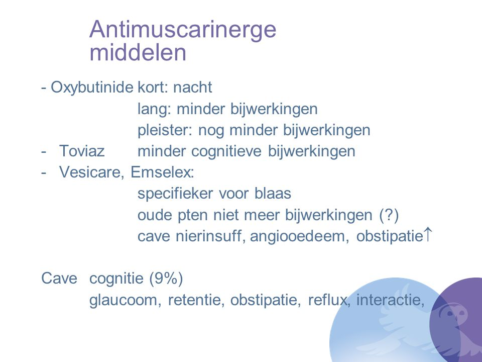 Antimuscarinerge middelen