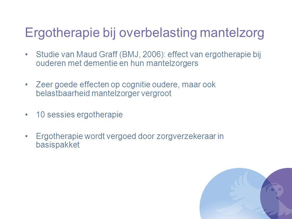 Ergotherapie bij overbelasting mantelzorg