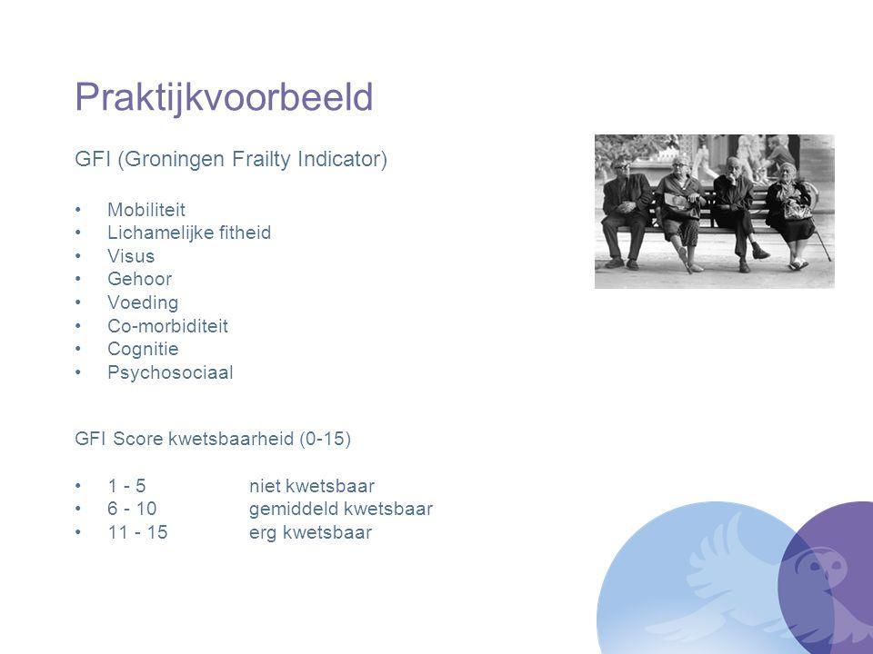 Praktijkvoorbeeld GFI (Groningen Frailty Indicator) Mobiliteit