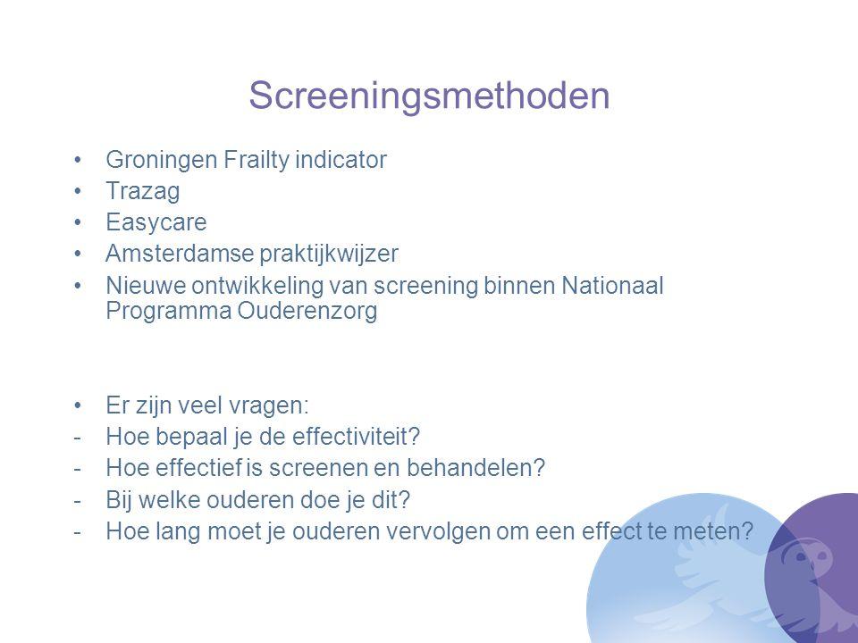 Screeningsmethoden Groningen Frailty indicator Trazag Easycare