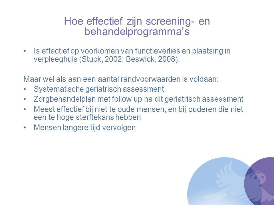 Hoe effectief zijn screening- en behandelprogramma's