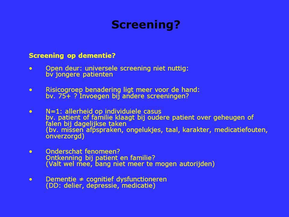 Screening Screening op dementie