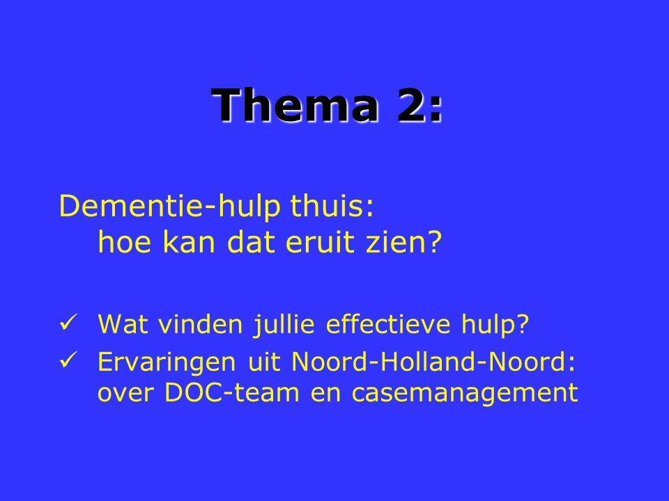 Thema 2: Dementie-hulp thuis: hoe kan dat eruit zien