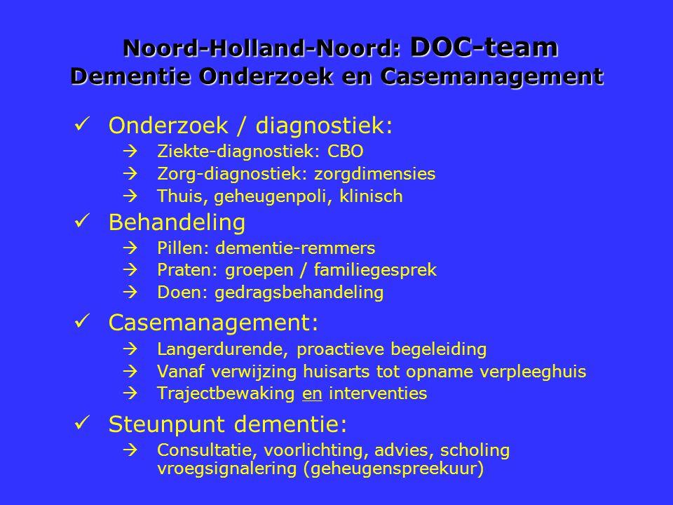 Noord-Holland-Noord: DOC-team Dementie Onderzoek en Casemanagement