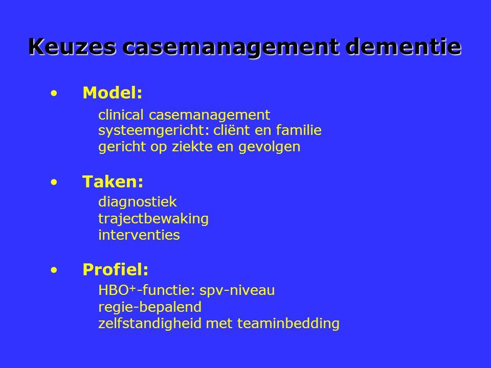 Keuzes casemanagement dementie