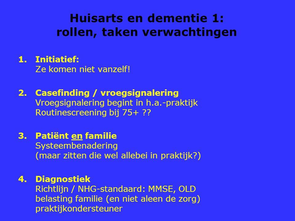 Huisarts en dementie 1: rollen, taken verwachtingen