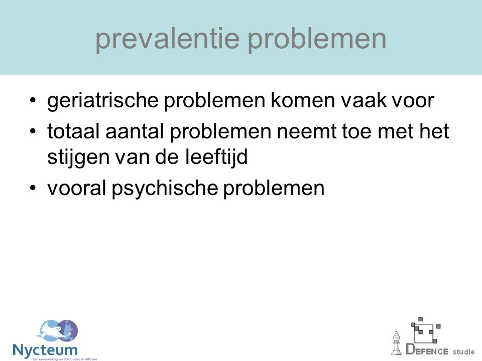 prevalentie problemen