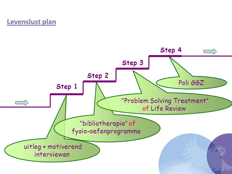 Levenslust plan Step 4 Step 3 Step 2 Poli GGZ Step 1