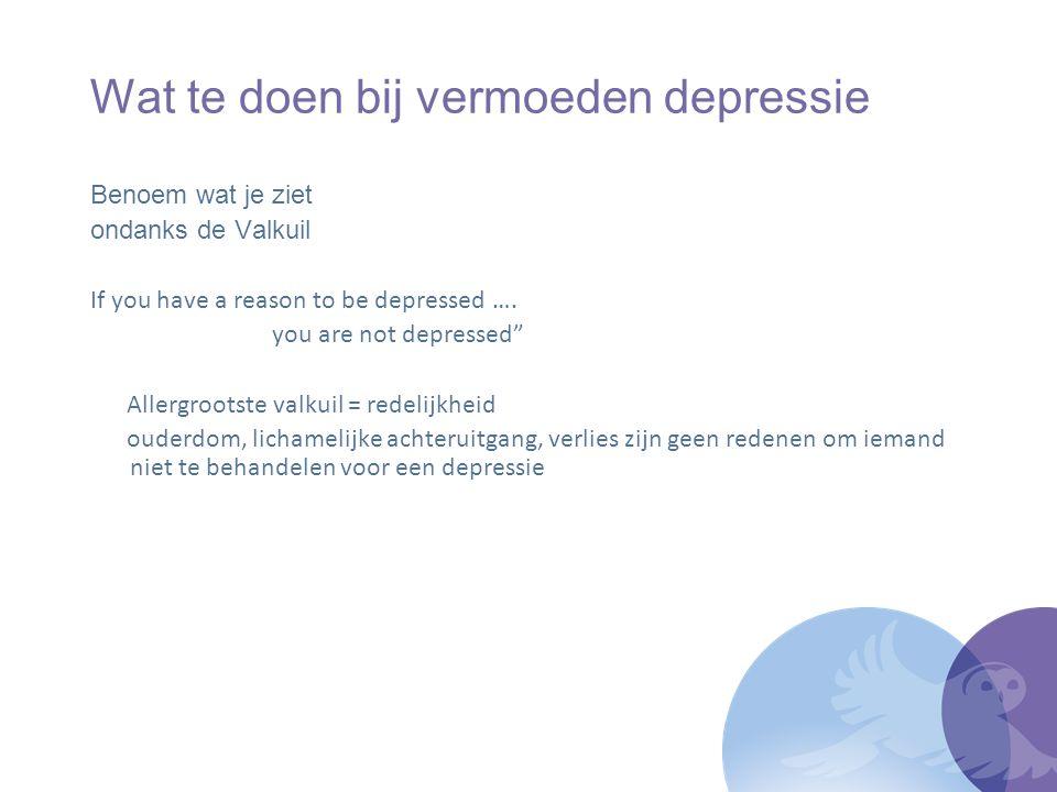 Wat te doen bij vermoeden depressie