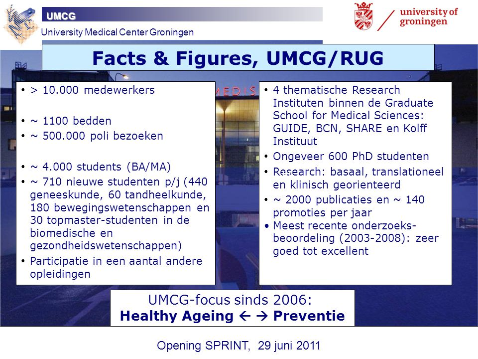 Facts & Figures, UMCG/RUG Healthy Ageing   Preventie