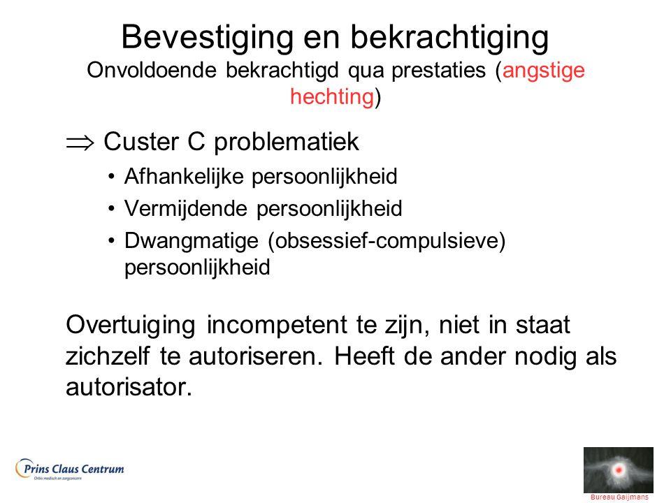 Bevestiging en bekrachtiging Onvoldoende bekrachtigd qua prestaties (angstige hechting)