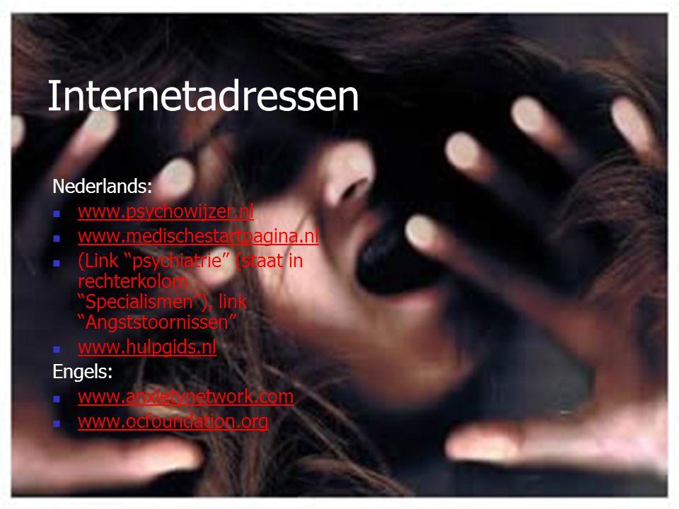 Internetadressen Nederlands: www.psychowijzer.nl