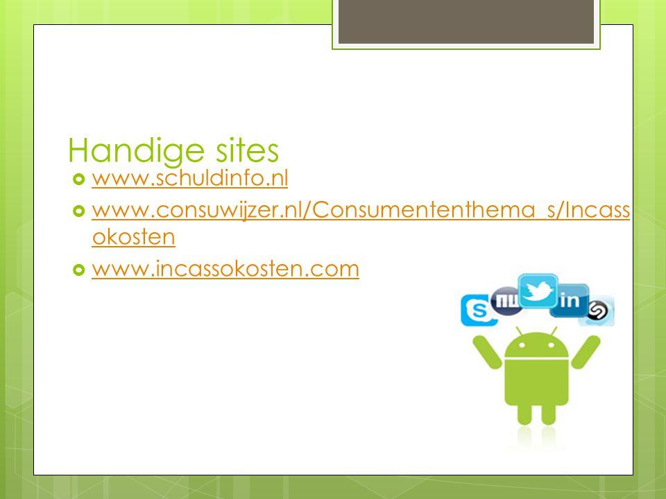Handige sites www.schuldinfo.nl
