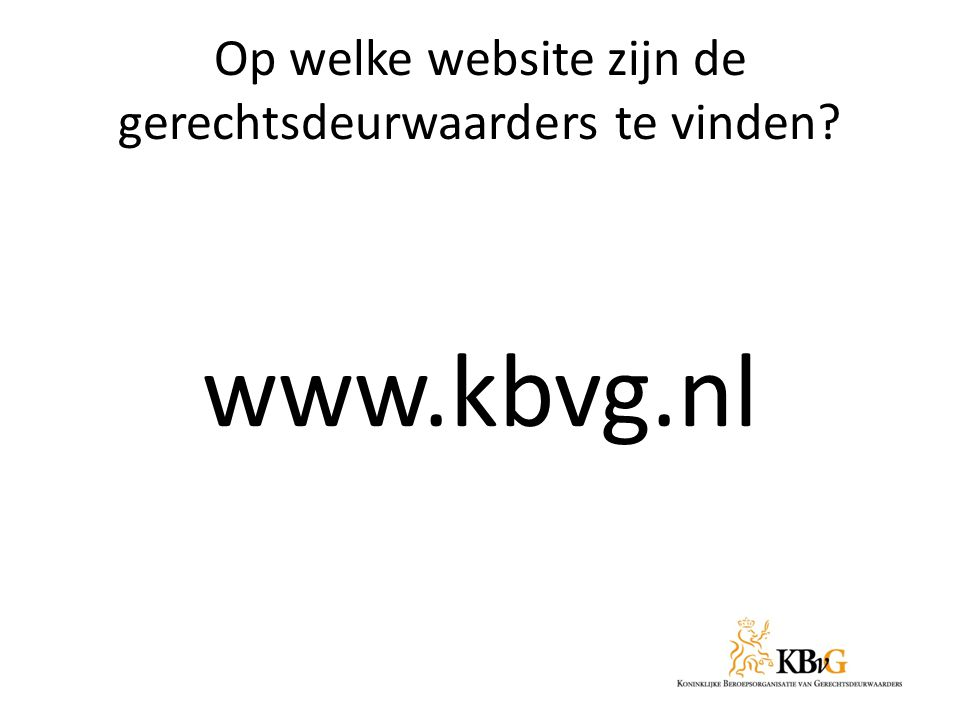 Op welke website zijn de gerechtsdeurwaarders te vinden