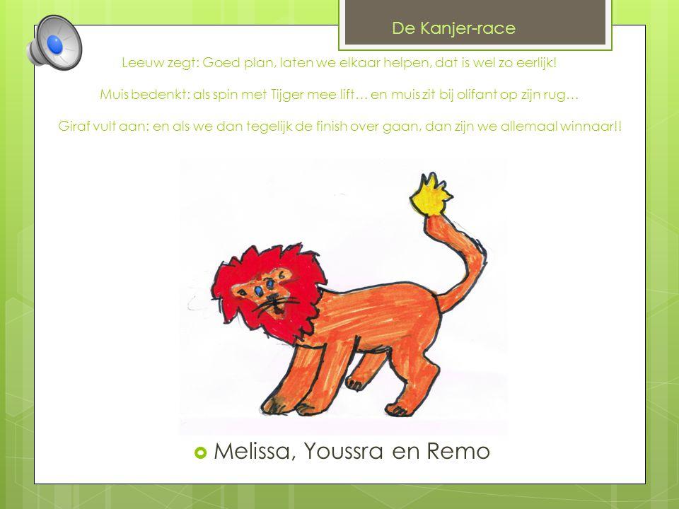 Melissa, Youssra en Remo