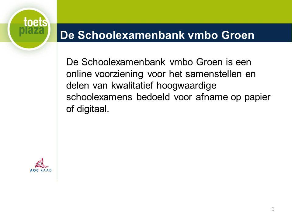De Schoolexamenbank vmbo Groen