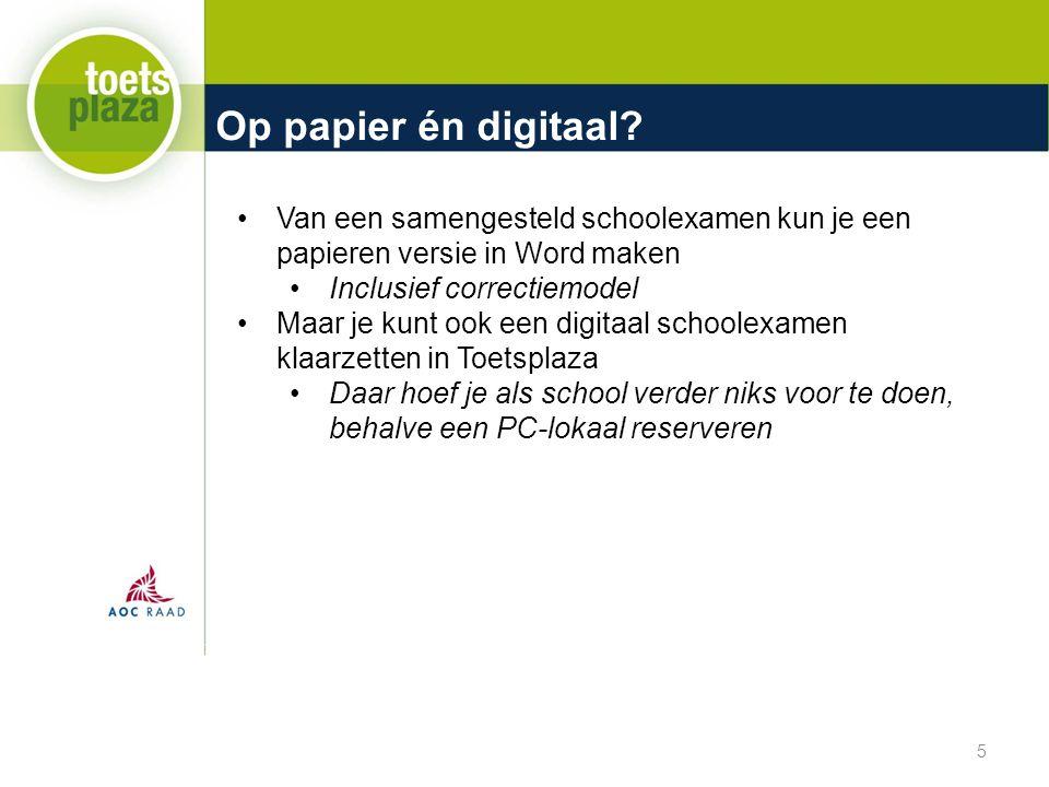 Op papier én digitaal Van een samengesteld schoolexamen kun je een papieren versie in Word maken. Inclusief correctiemodel.