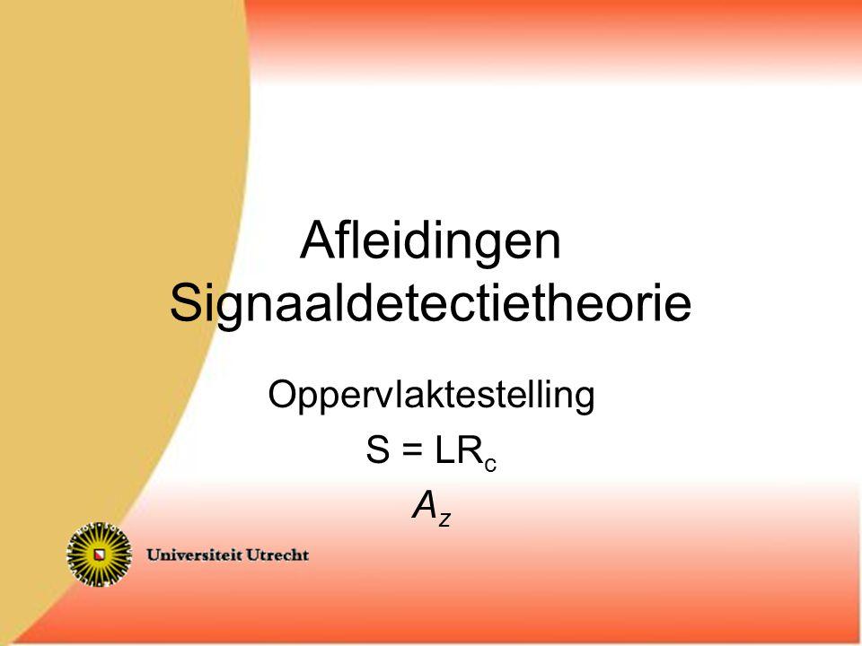 Afleidingen Signaaldetectietheorie