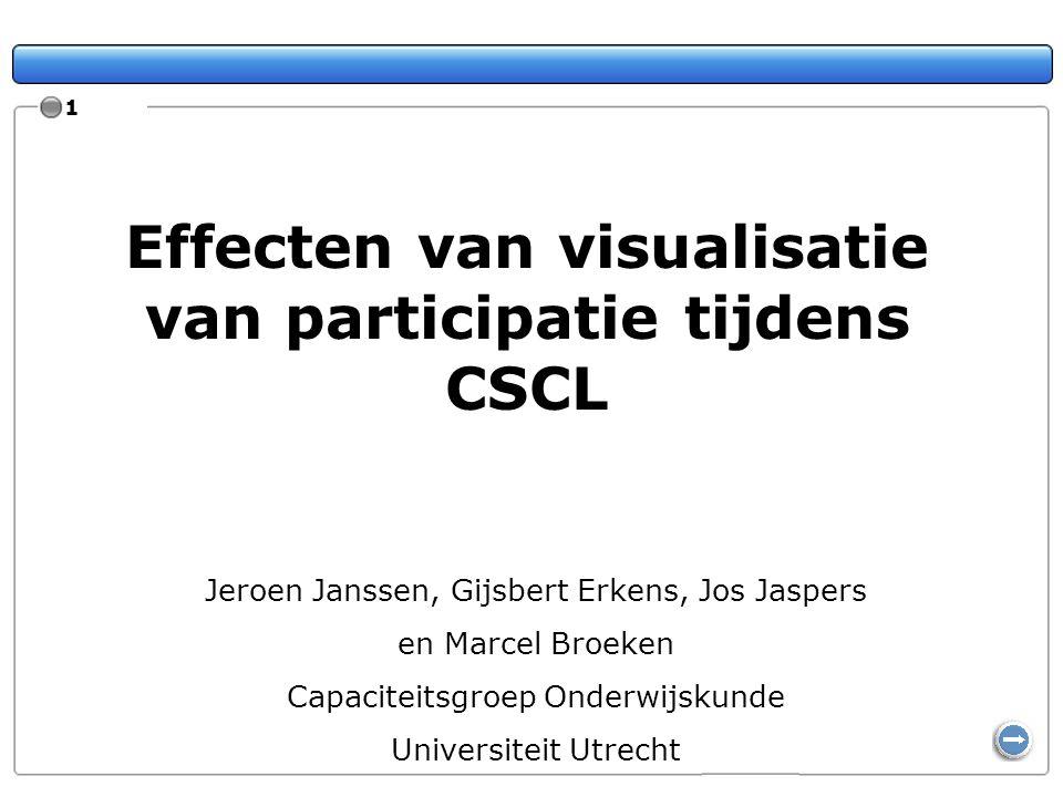Effecten van visualisatie van participatie tijdens CSCL