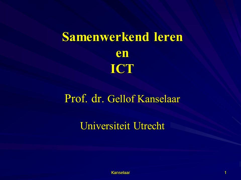Samenwerkend leren en ICT Prof. dr