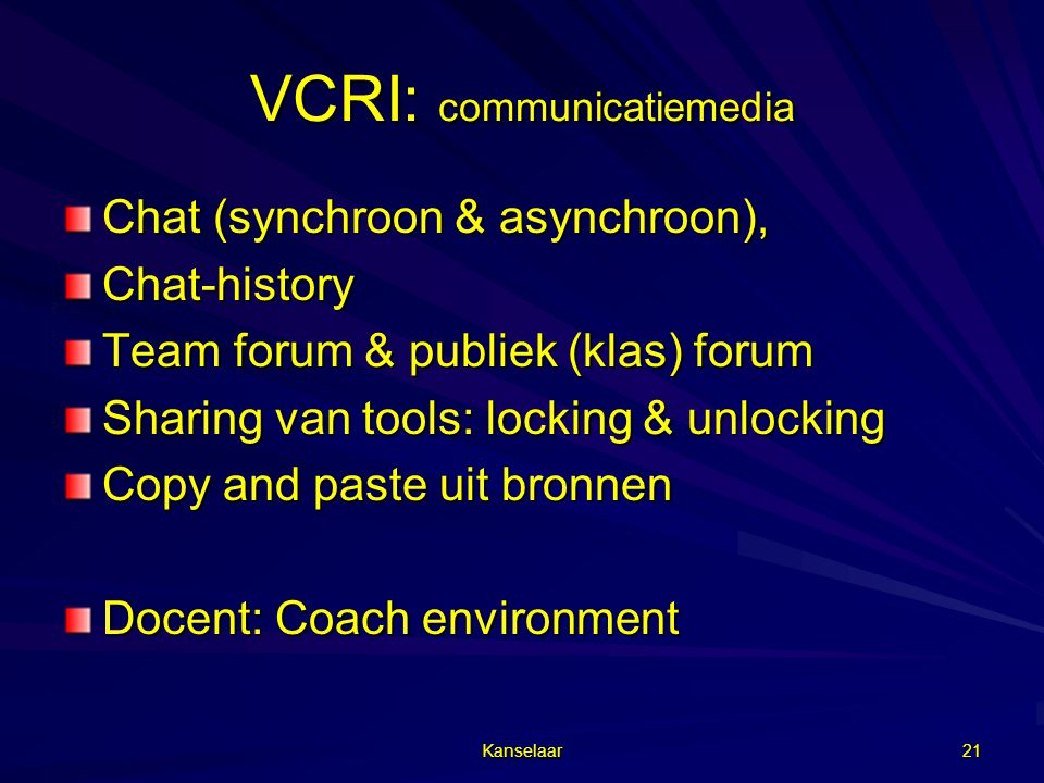VCRI: communicatiemedia