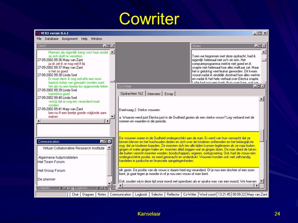 Cowriter Kanselaar