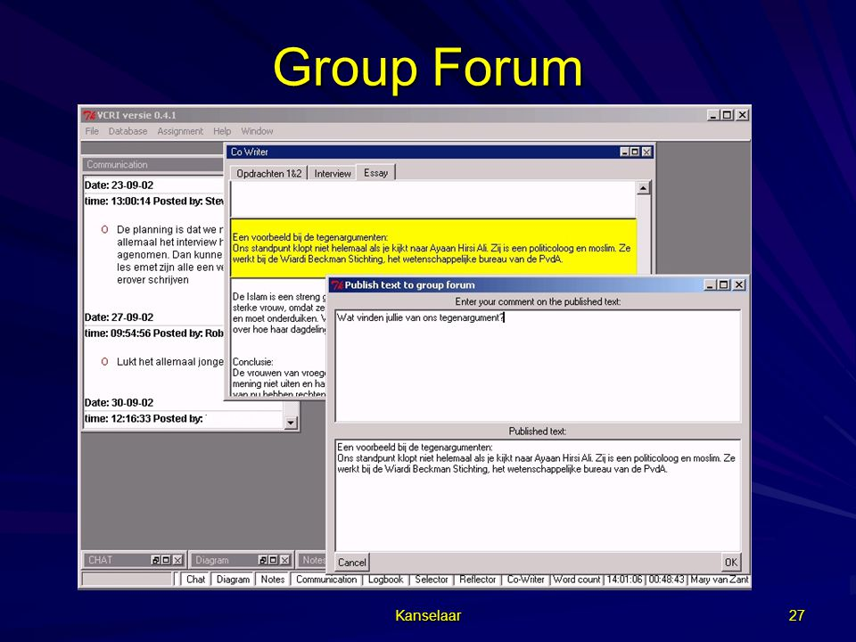 Group Forum Kanselaar