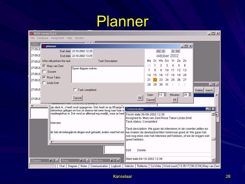Planner Kanselaar