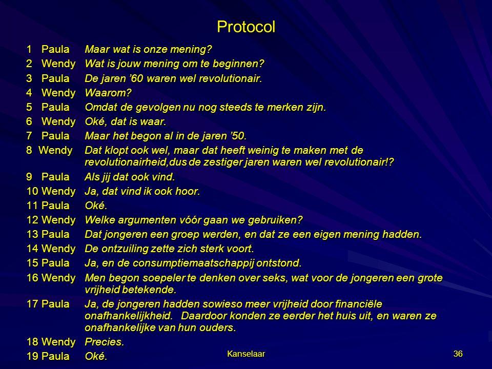 Protocol 1 Paula Maar wat is onze mening