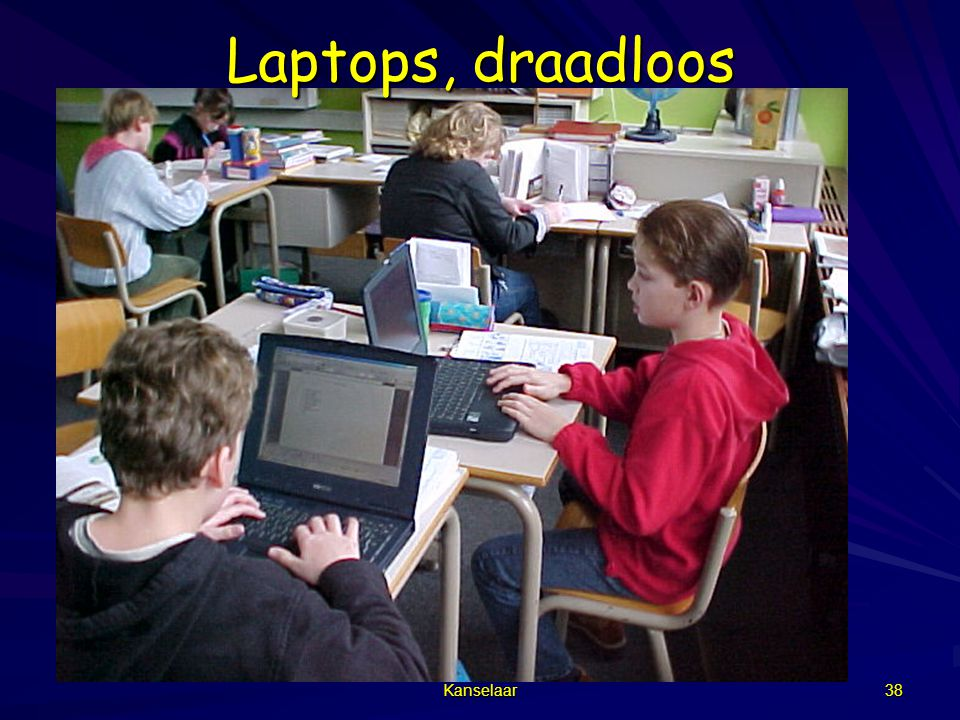 Laptops, draadloos Kanselaar