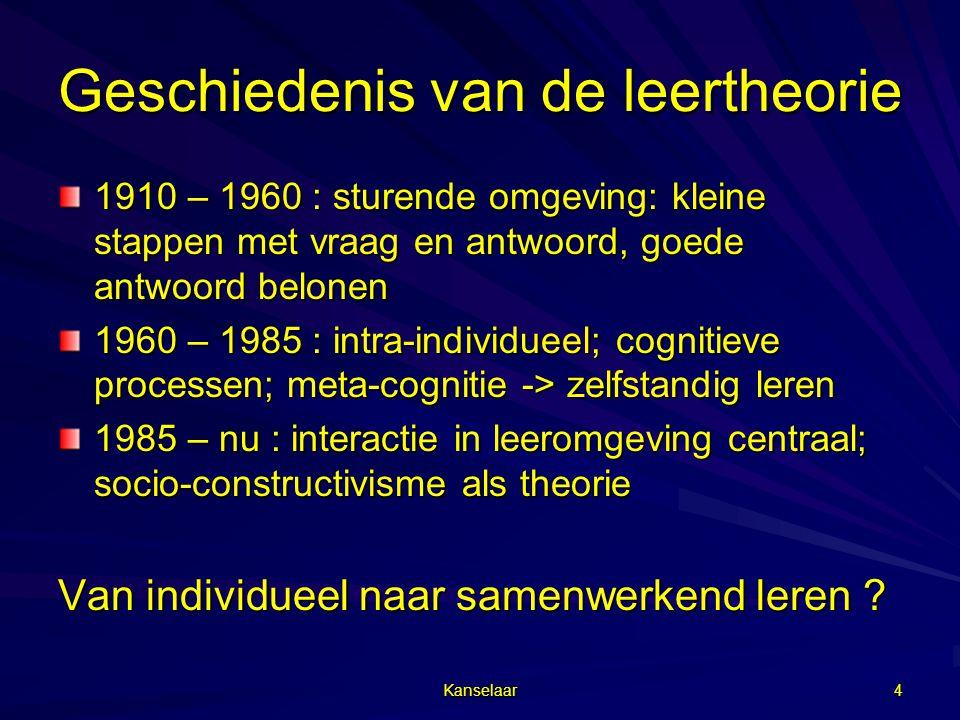 Geschiedenis van de leertheorie