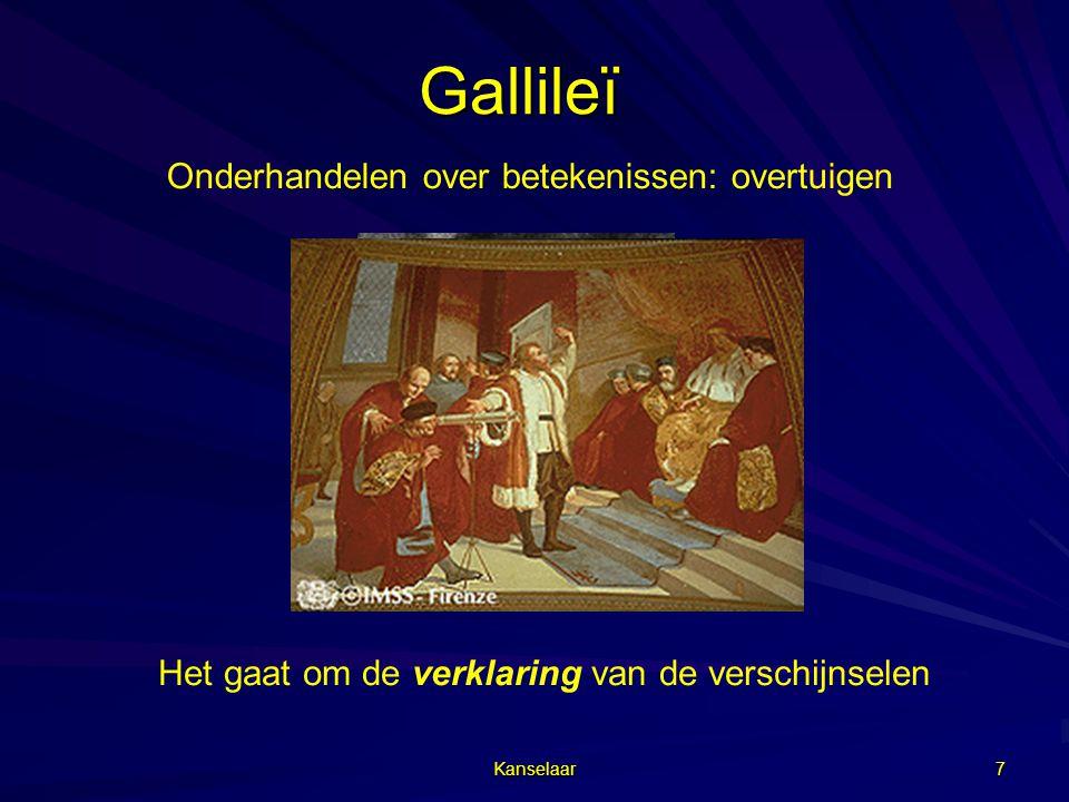 Gallileï Onderhandelen over betekenissen: overtuigen