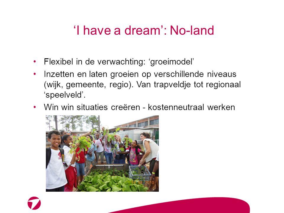 'I have a dream': No-land