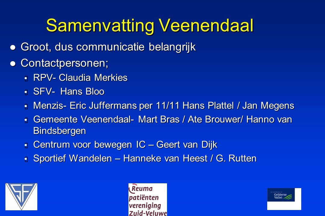 Samenvatting Veenendaal