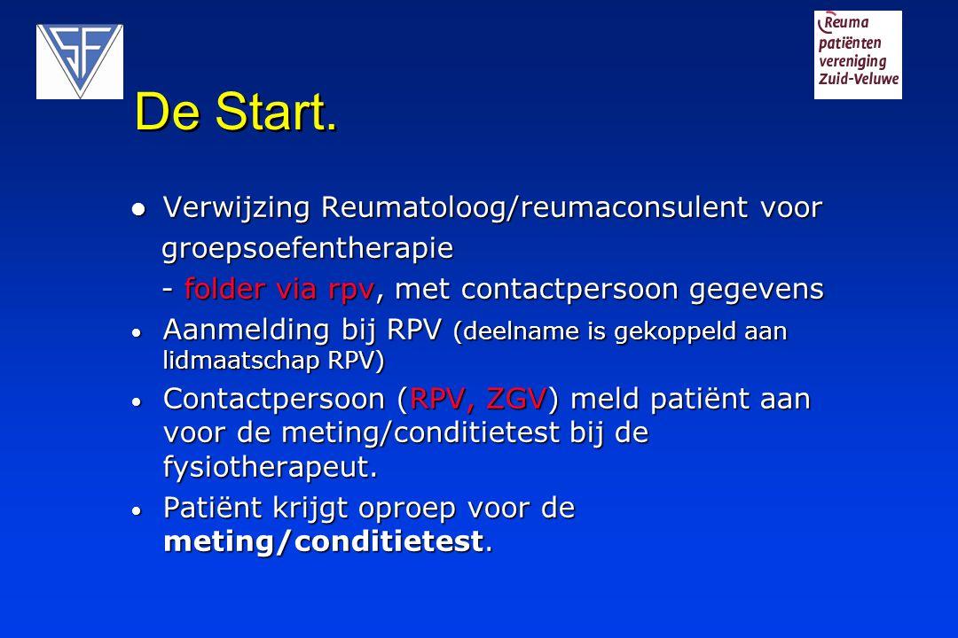 De Start. Verwijzing Reumatoloog/reumaconsulent voor