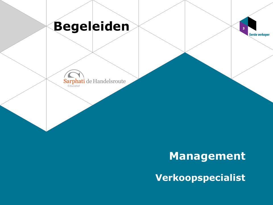 Begeleiden Management Verkoopspecialist