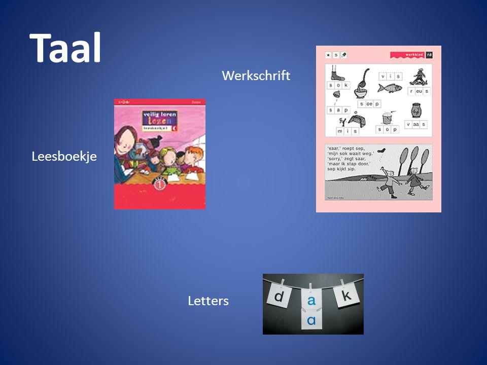 Taal Werkschrift Leesboekje Letters