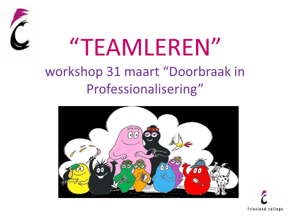 TEAMLEREN workshop 31 maart Doorbraak in Professionalisering