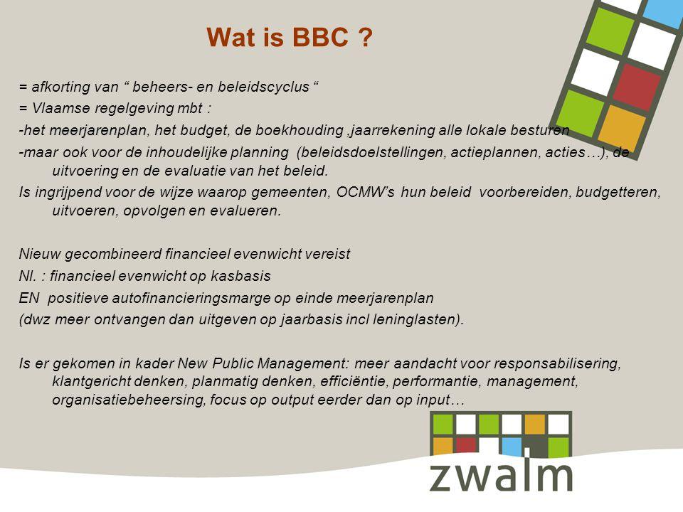 Wat is BBC = afkorting van beheers- en beleidscyclus