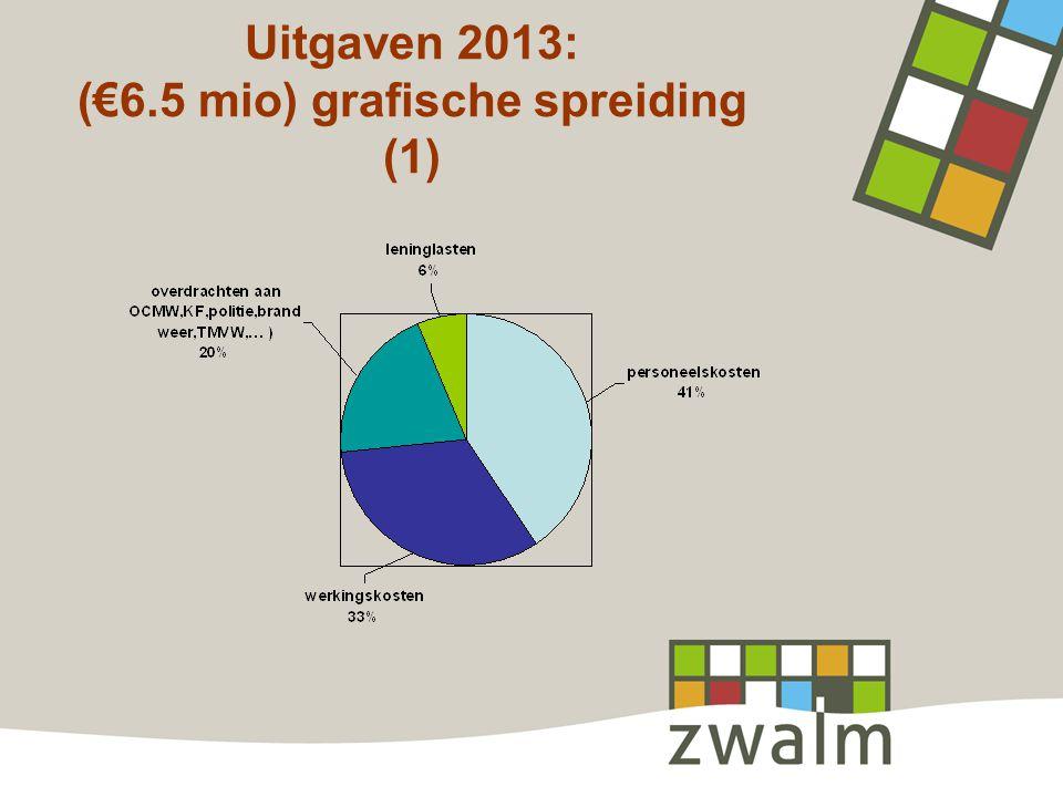 Uitgaven 2013: (€6.5 mio) grafische spreiding (1)