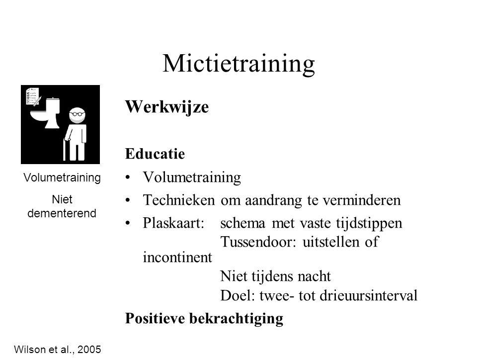 Mictietraining Werkwijze Educatie Volumetraining