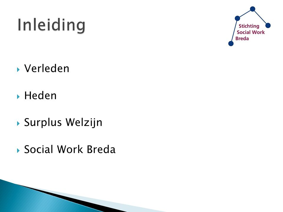 Inleiding Verleden Heden Surplus Welzijn Social Work Breda