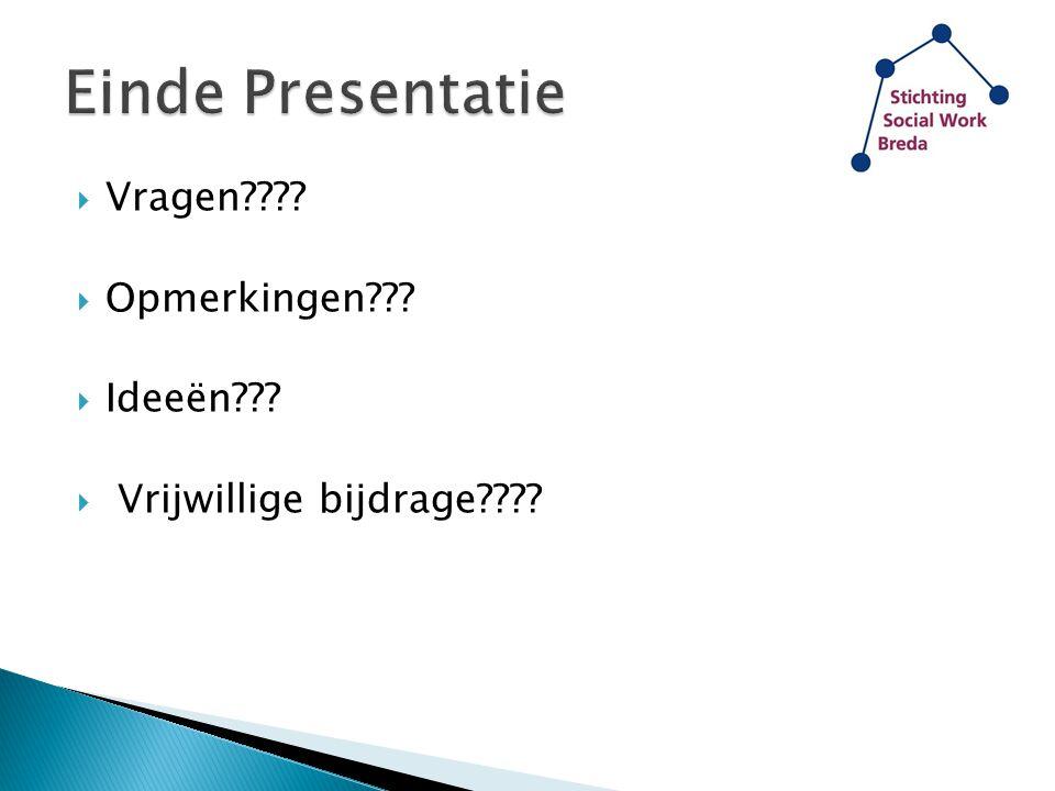 Einde Presentatie Vragen Opmerkingen Ideeën