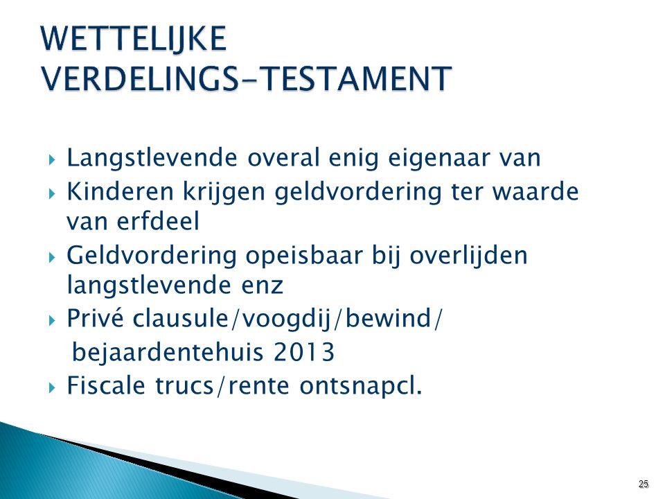 WETTELIJKE VERDELINGS-TESTAMENT