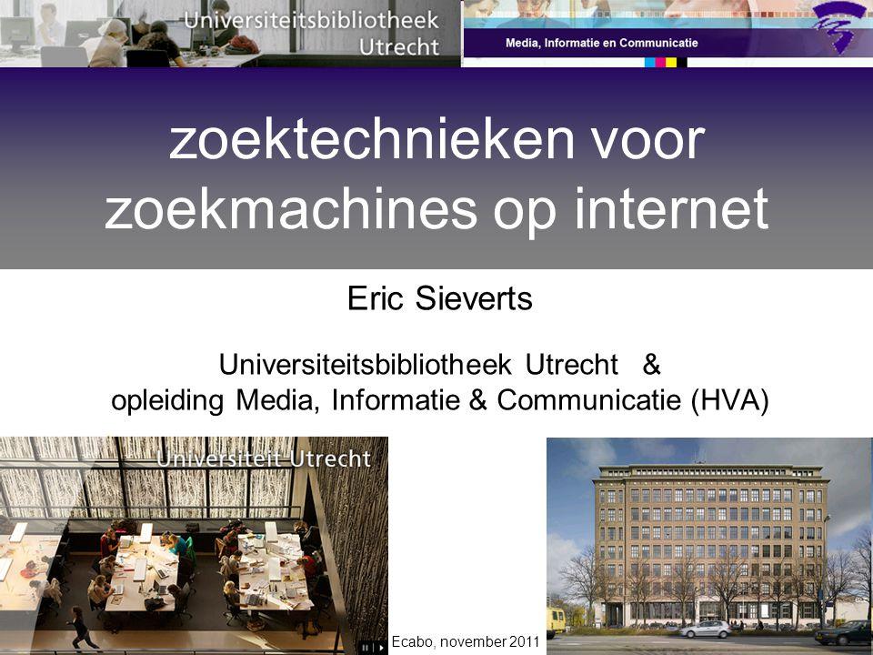 zoektechnieken voor zoekmachines op internet