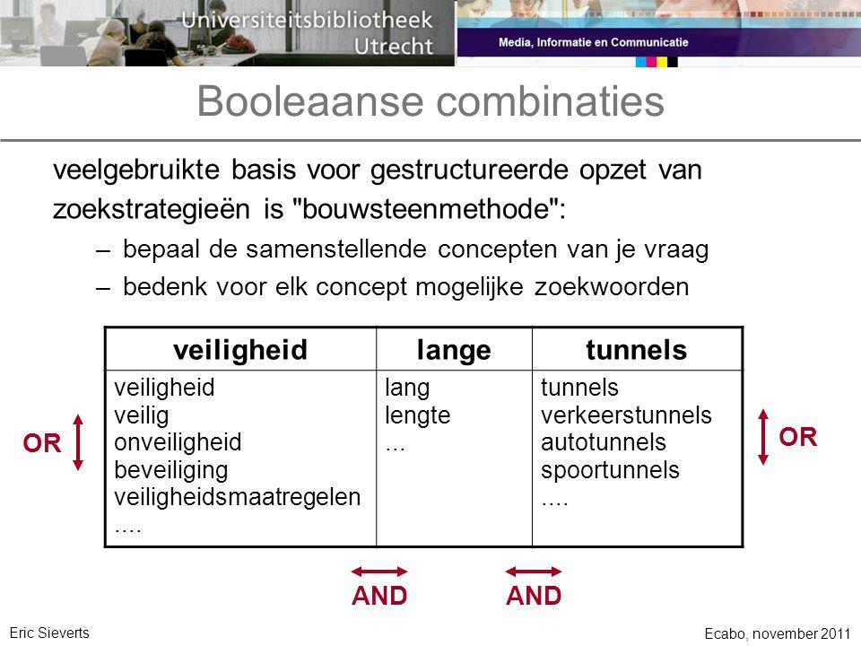 Booleaanse combinaties